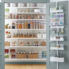 white elfa décor pantry with utility door wall rack