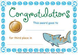 Printable Swimming Awards Download Them Or Print