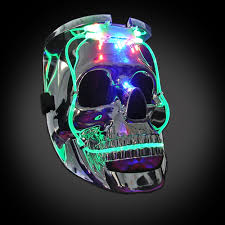 Light Up Skull Mask Light Up Silver Skull Mask