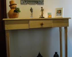hall entry furniture. Winston Woodworks Pine Console Entry Way Table With Drawer - Handmade Natural Wood Buffet Hall Furniture