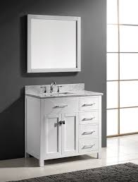 36 inch bathroom vanity with top. Virtu USA MS-2136R-WMSQ-WH 36-Inch Caroline Parkway Single Square Sink Bathroom Vanity, White - Amazon.com 36 Inch Vanity With Top
