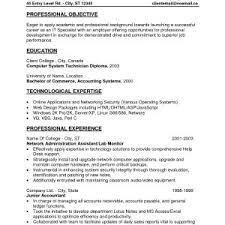 Sample Resume Objectives For Entry Level Manufacturing Best Resume