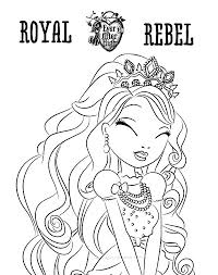 Small Picture Royal Rebel Ever After High Coloring Pages Download Print