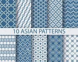 Asian Patterns Enchanting 48 Different Chinese Asian Traditional Seamless Patterns Swatches