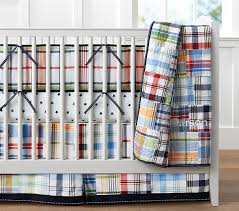 madras comforter set baby bedding pottery barn kids 16