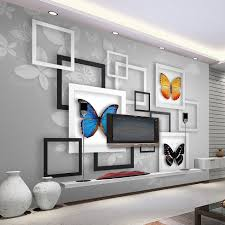 office backdrop. Art Frame Butterfly Photo Mural Living Room Bedroom Office Backdrop Wall Modern Simple Home Decor Non Woven Custom 3D Wallpaper-in Wallpapers From L
