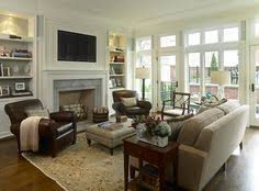 Great Room Furniture Layout Living Room Decorating Ideas On A Budget Classy And Neutral Family Furniture Arrangement Like The Bookcases Either Side Of Fireplace Great Layout