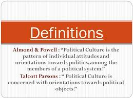 political culture this concept was first used by gabriel almond essay comparative political system 3 almond