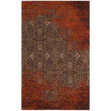 classic vintage rust brown 5 ft x 8 ft area rug