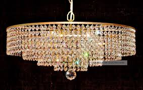 Kristall Kronleuchter Korb Lüster Deckenlampe Straß
