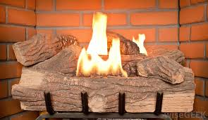 prefab fireplaces use gas burning logs instead of wooden logs