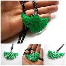 legend of zelda necklace laser cut transpa green acrylic