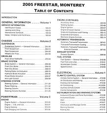 2005 ford star mercury monterey repair shop manual set original find out what is covered by clicking here to see page 2 of the table of contents this manual covers all 2005 ford star models including cargo s se