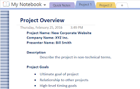 project management quick reference guide how to adopt onenote templates for project management