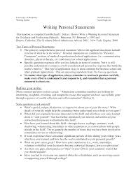 Medical School Essays Sample Personal Statements Graduate School How To Write A Personal