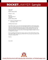 Child Support Response Letter Sample 2018 Letter Letter For Child