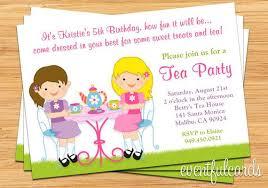 Kids Tea Party Invitation Wording Birthday Invitation For Kid 21 Kids Birthday Invitation Wording That