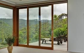 doors wooden aluminum double glazed