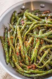Spicy Chinese Sichuan Green Beans Dinner Then Dessert