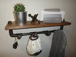 Coat And Hat Rack With Shelf Pipe Shelf the Modernisto Black pipe Key rack and Rack shelf 86