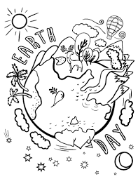 Small Picture Free Earth Day Coloring Page