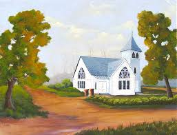 Clearwater First Baptist Church 1929 Painting by Jerry Walker