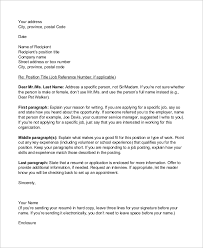 Sample Cover Letter Outline 6 Examples In Pdf