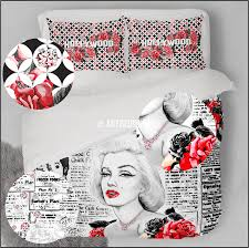 Marilyn Monroe Bedroom Decor Marilyn Monroe Designer Art Bedding Set Hollywood Themed Duvet