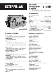 cat 3126b propulsion caterpillar marine power systems pdf cat 3126b propulsion 1 32 pages