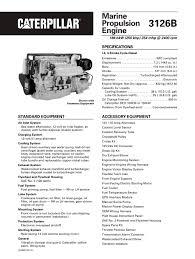 cat 3126b propulsion caterpillar marine power systems pdf cat 3126b propulsion 1 32 pages