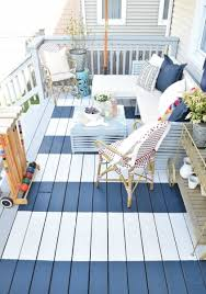 simple striped painted rug