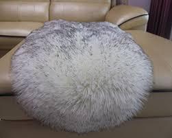 huahoo faux fur sheepskin rug white gray and 50 similar items 51ehs6y78el sl1500