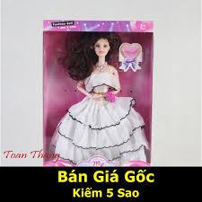 Mua [HOT TREND] Búp bê công chúa váy trắng đáng yêu BB111118 chất lượng  nhất chỉ 59.000₫