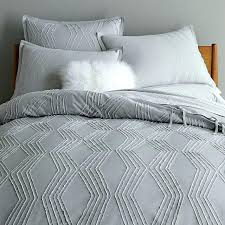 amazing applique ruffle stripe grey duvet cover and shams intended for blue covers gray double incredible
