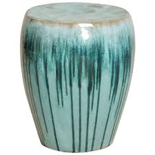 ceramic garden seat. Modren Garden Turquoise Teal Drip Coastal Beach Simple Ceramic Garden Seat Stool  Kathy  Kuo Home On S