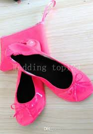 After Party Shoes Vending Machine Cool Women's Leather Split Sole Rollable Foldable Comfortable Dance