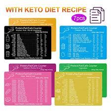 Keto Friendly Food Chart Keto Cheat Sheet Magnets Set Of 7 Ketogenic Diet Food List Charts Quick Reference Magnetic Fridge Keto Cookbook Recipes For Commonly 119 Ingredients