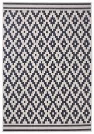 Diamond Pattern Rug Impressive Wool Black Diamond Pattern Rug Machine Made 48% Polypropylene