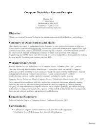 12 13 Computer Technician Resume Summary Nhprimarysource Com