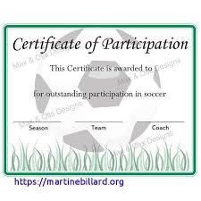 Soccer Certificate Templates For Word Soccer Award Certificate Templates Free Unique Free Word Certificate