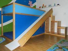 bunk beds with slide ikea. Perfect Slide Ikea Bed And Slide Turn Into A Playground Themed Room Intended Bunk Beds With Slide E