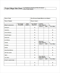 Rate Sheet Template 18 Free Word Excel Pdf Document