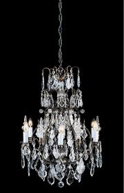 impex lighting cb00501 06 crystal collection 6 light antique brass chandelier trimmed