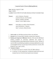 Corporate Meeting Minutes Form Corporate Meeting Minutes Template 10 Free Word Excel