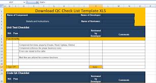 Download Qc Check List Template Xls Excel Xls Templates