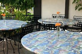 patio tablecloth round outdoor tablecloths are offered in vinyl as well as cloth round patio tablecloth