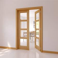 6282 Clear Glazed 4 Panel Shaker Oak Internal French Door Set Departments  photo of French Oak
