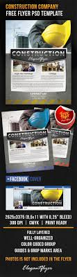 flyer companies construction company free flyer psd template psd templates and