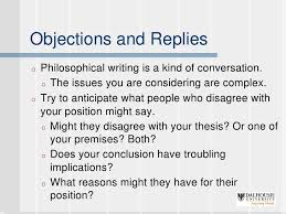 writing philosophy papers 12 objections and replieso philosophical writing