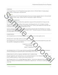 Cleaning Proposal Letter Design Templates Janitorial Examples Free